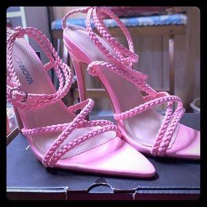 A pair of fashionNova heels